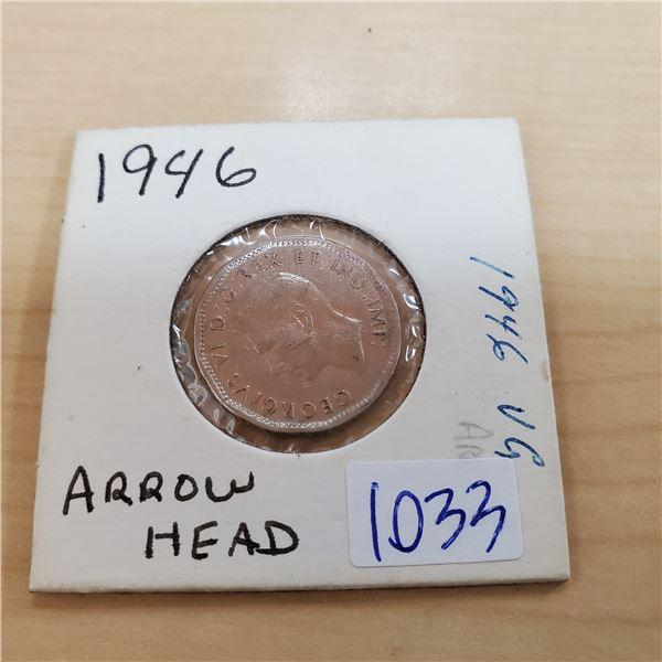 1946 arrowhead canada 5 cents