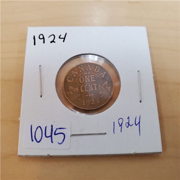 1924 one cent