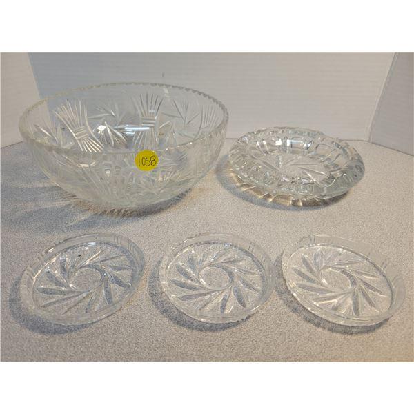 Pinwheel crystal - 5 pieces