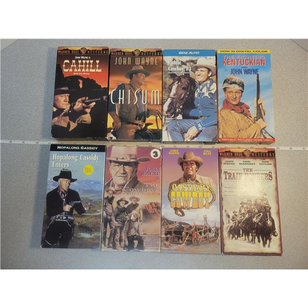 8 Western VHS movies