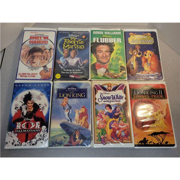8 Disney VHS tapes