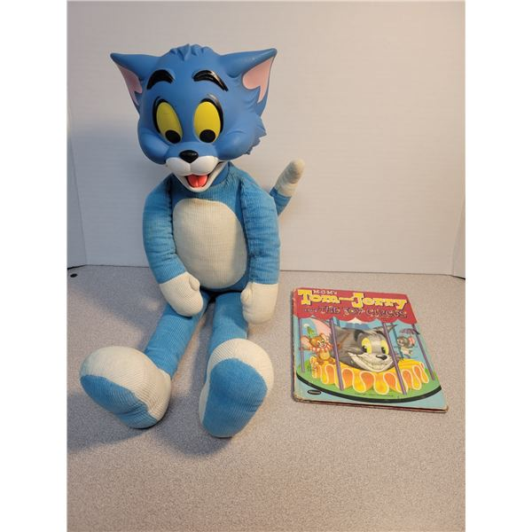 Large rubber face Tom (18 inches), 1 Tom & Jerry book 1953