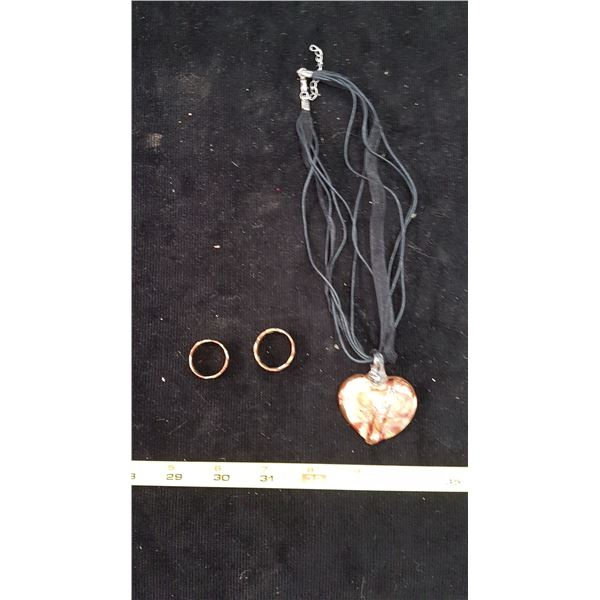 2 Copper Rings & Necklace