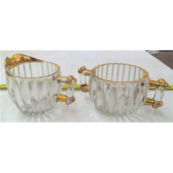 Cream & Sugar Set - Glass