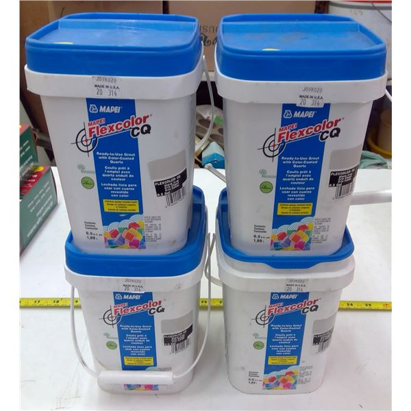 4 Containers Mapei Flexcolor Grout - 3 NEW sealed, 1 Open
