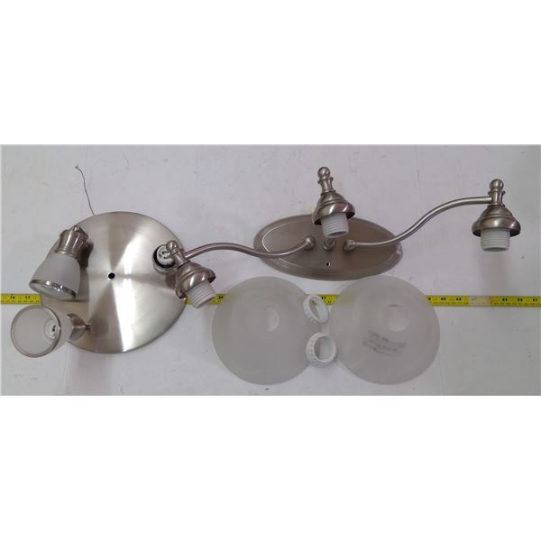 Light Fixture Pieces and Parts Assorted