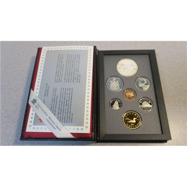 1989 Canadian Coin Proof Set - 7 Piece - McKenzie Dollar