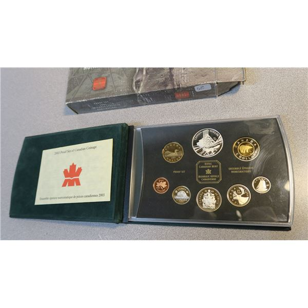 2003 Canadian Coin Proof Set - 8 Piece - 99.99% Fine Silver - Cobolt Silver Strike Anniversary