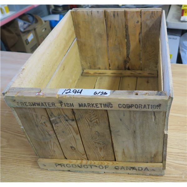 """Wooden Fish Crate - 23.5""""X1`6""""X13.5"""""""