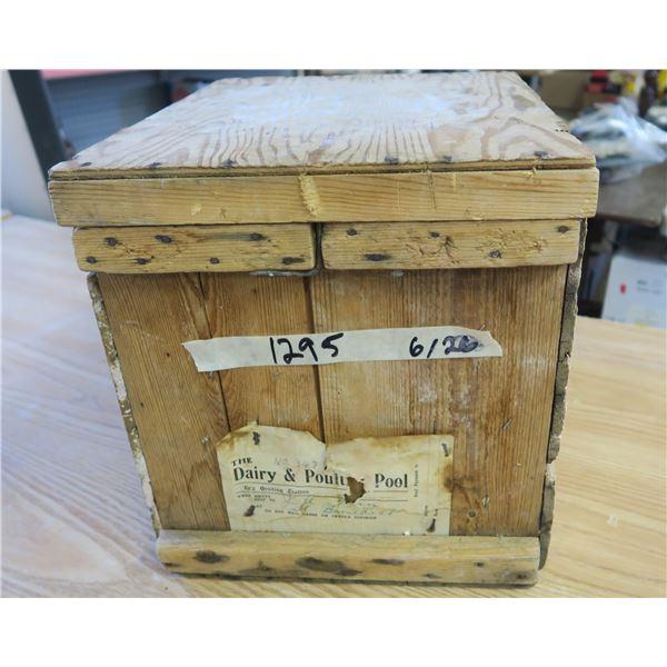 "Sask Co-op Wooden Egg Crate - 15""X12.5""X13.5"""