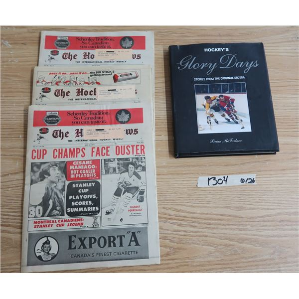 Hockey News X3 (Vol.26 Nos. 29-31) and Hockey Book