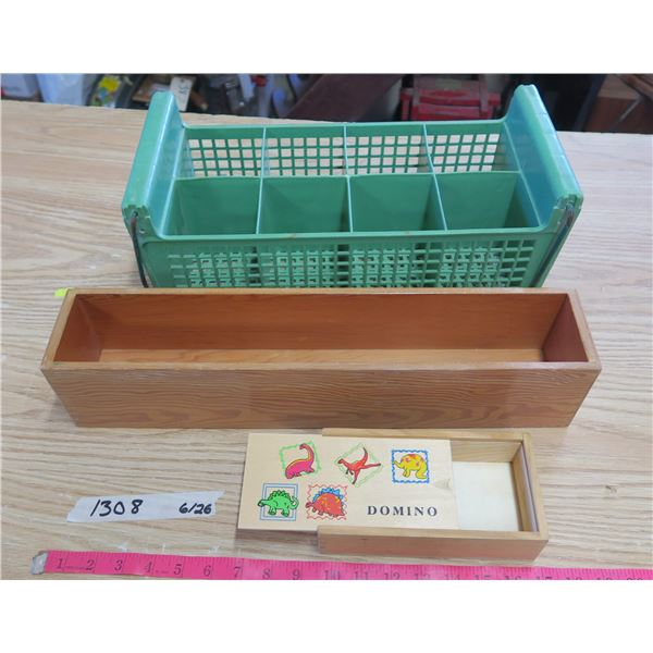 Small Wood Boxes X2 and Dishwasher Rack