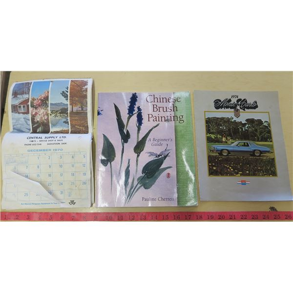 Calendar, Book and 1974 Monte Carlo Brochure