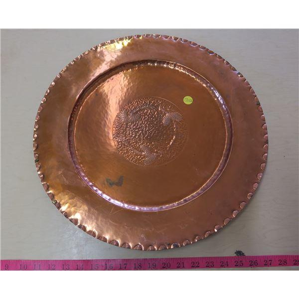 Copper Wall Decorative Plate