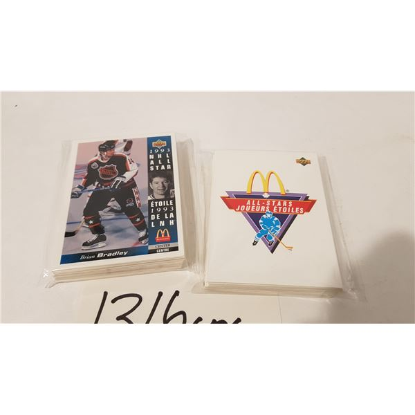 Upper Deck/McDonald's NHL Hockey Cards 91' and 93' Complete Base Cards Sets - 50+ Cards