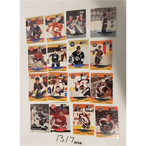 ProSet NHL Hockey Cards X17 Cards including Wayne Gretzky