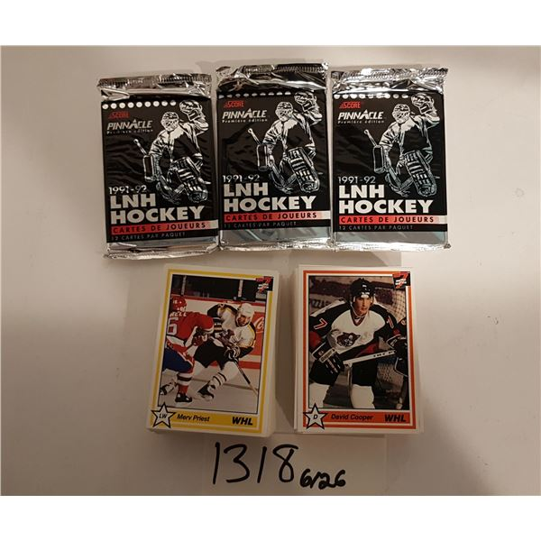 Hockey Cards - 110+ OHL 91' Hockey Cards and 3 Unopened Packs of 91'-92' LNH Hockey Cards