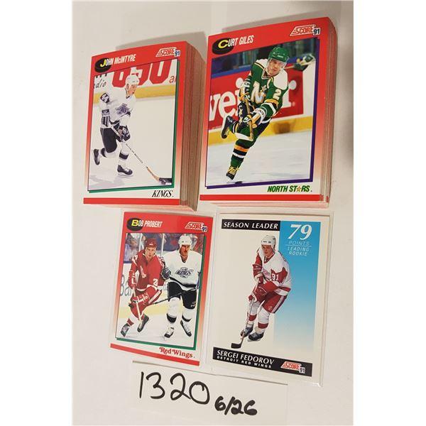 SCORE 91' NHL Hockey Cards - 120+ Cards