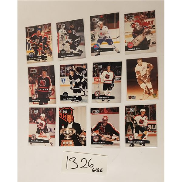 ProSet 91' NHL Hockey Cards - 12 Cards