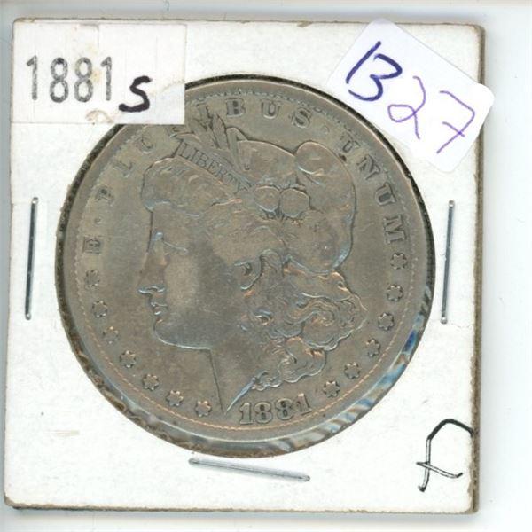 1881S US Morgan Silver Dollar Coin