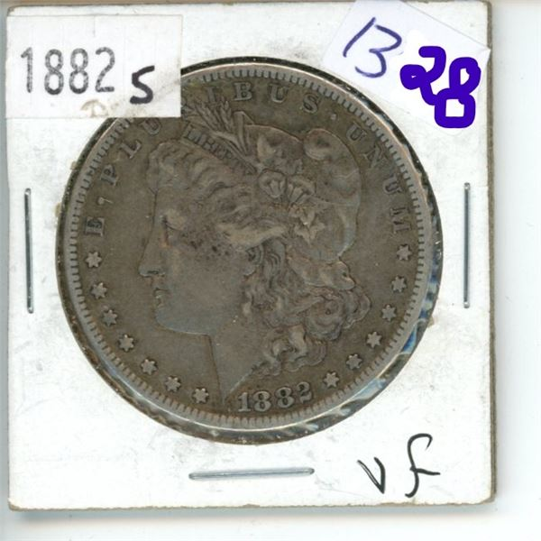 1882S  US Morgan Silver Dollar Coin