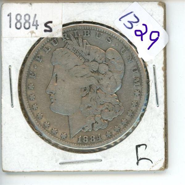 1884S  US Morgan Silver Dollar Coin