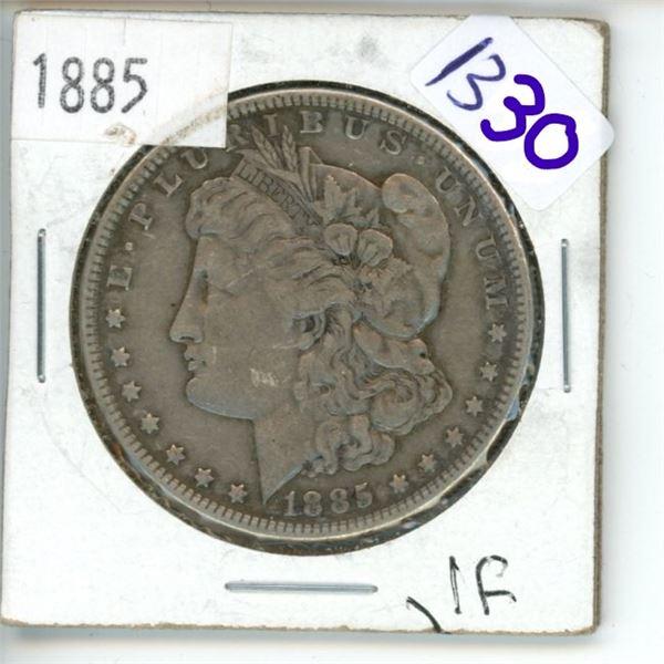 1885  US Morgan Silver Dollar Coin