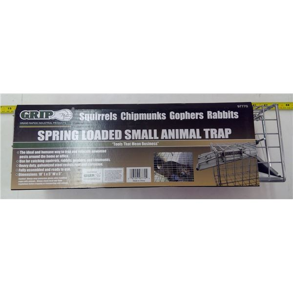 NEW Spring Loaded Small Animal Trap
