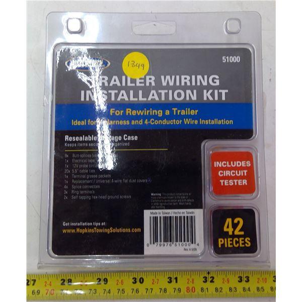 NEW Trailer Wiring Installation Kit