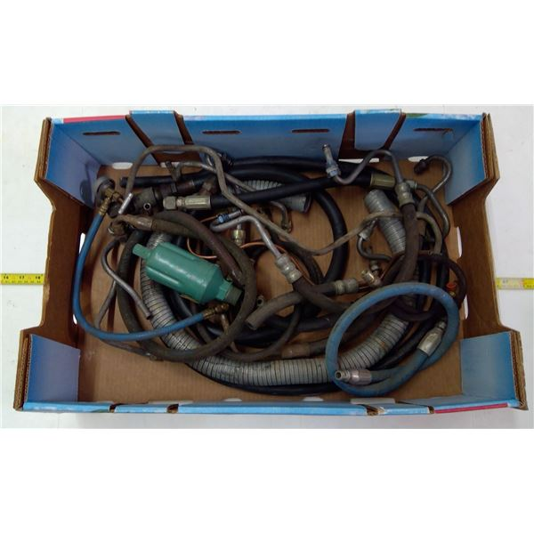 Lot of Hydraulic Lines, Gas Fittings & Fuel Lines