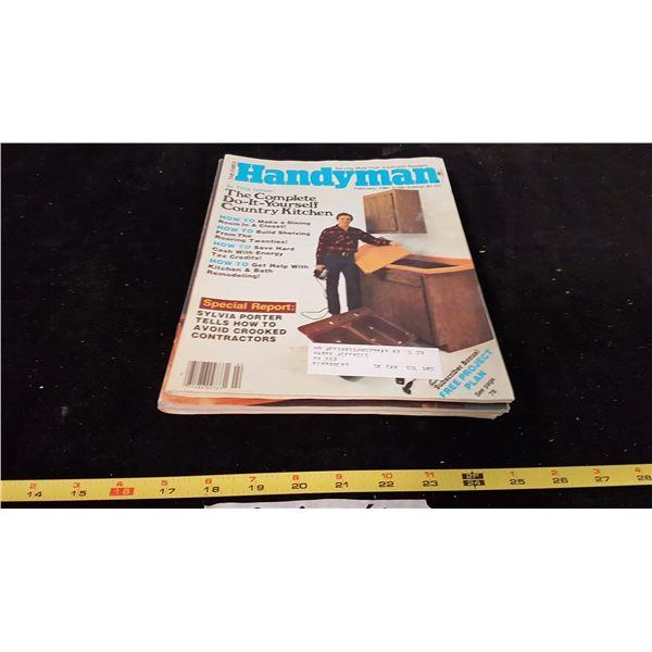 Lot 8 Handyman & How To Magazines