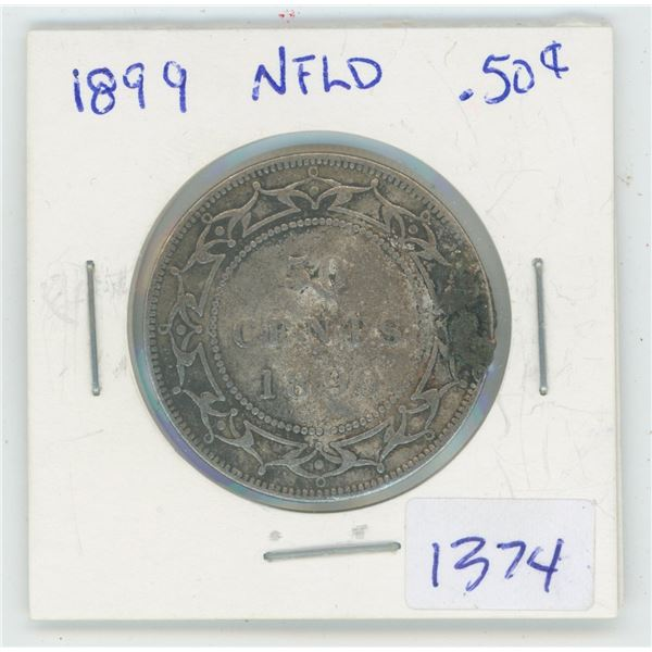 1899 NFLD 50 Cent Coin