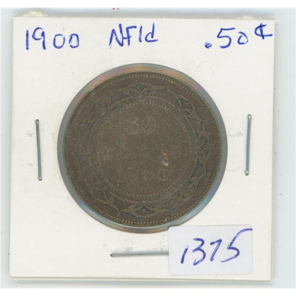 1900 NFLD 50 Cent Coin