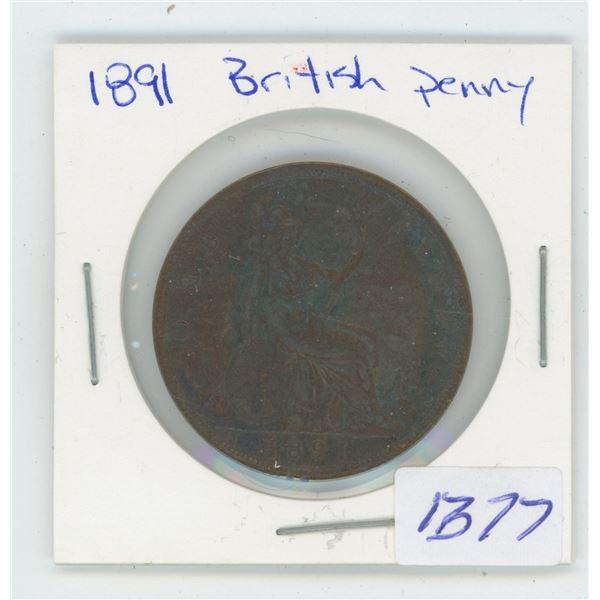 1891 British Penny