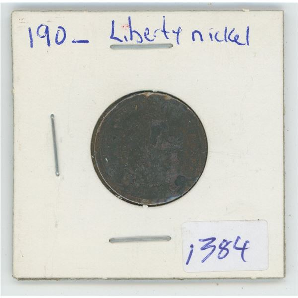 190_ USA Liberty 5 Cent Coin