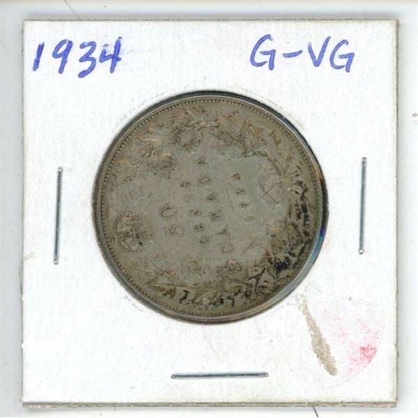 1934 CDN 50 cent G-VG