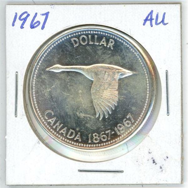 CDN Dollar 1967 AU to UNC