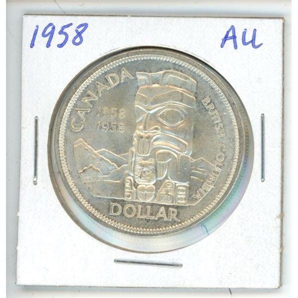 CDN Dollar 1958 AU to UNC