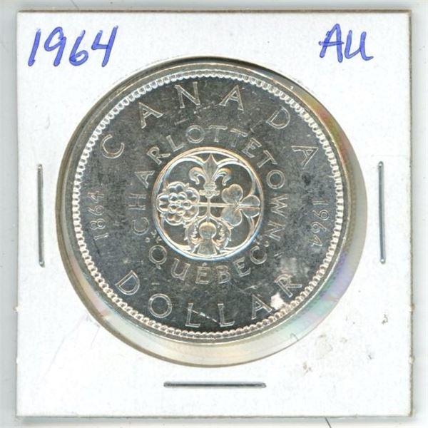 CDN Dollar 1964 AU to UNC
