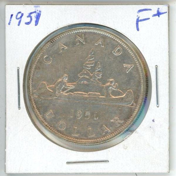 CDN Dollar 1951 F+