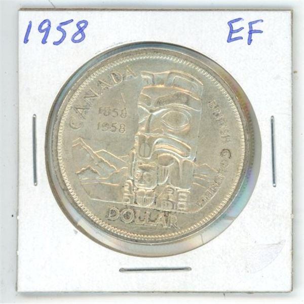 1958 CDN Dollar EF