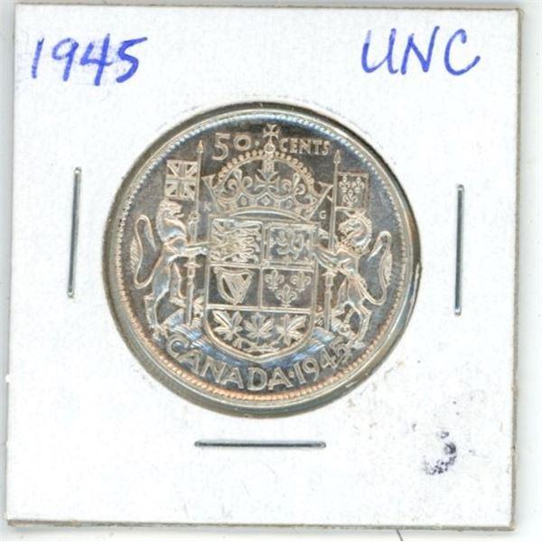 1945 CDN 50 Cent UNC