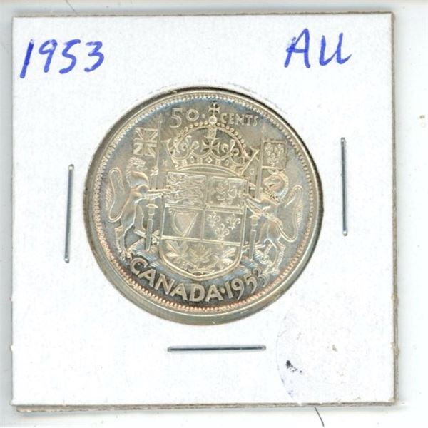 1953 CDN 50 Cent AU