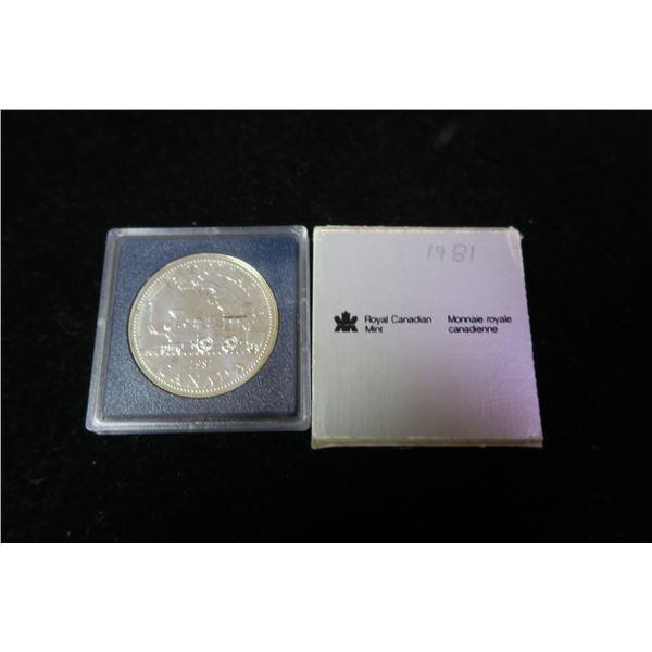 Royal Canadian Mint 1981 silver dollar