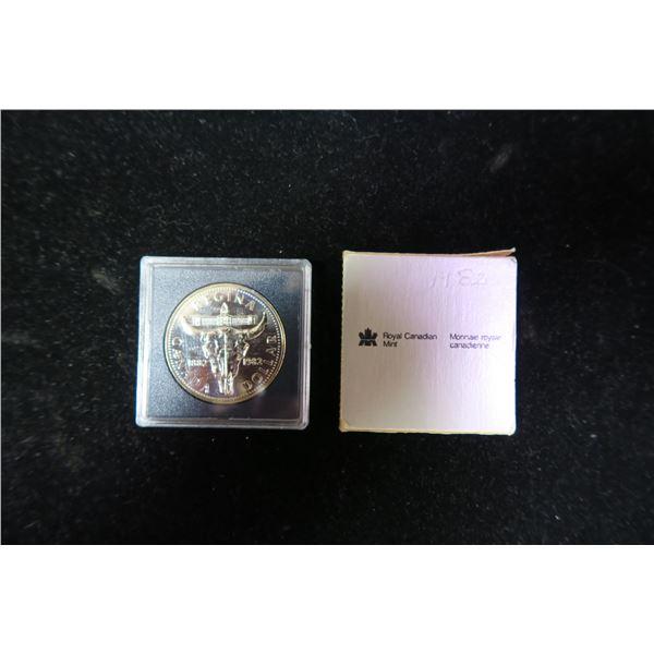 Royal Canadian Mint 1982 silver dollar