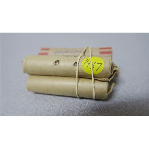 USA Pennies X5 Fifty Cent Rolls