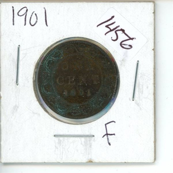 1901 Canadian 1 Cent Coin