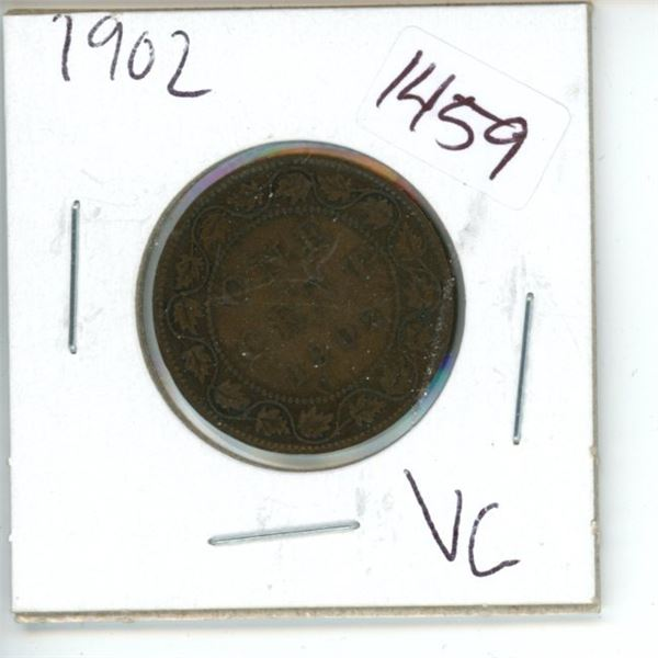 1902 Canadian 1 Cent Coin