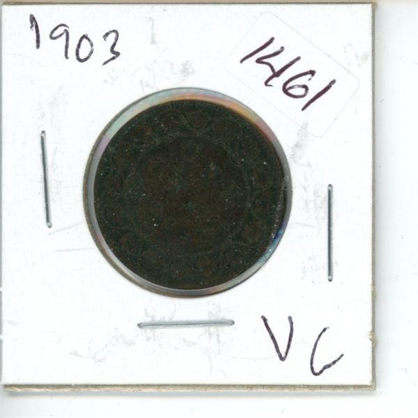 1903 Canadian 1 Cent Coin