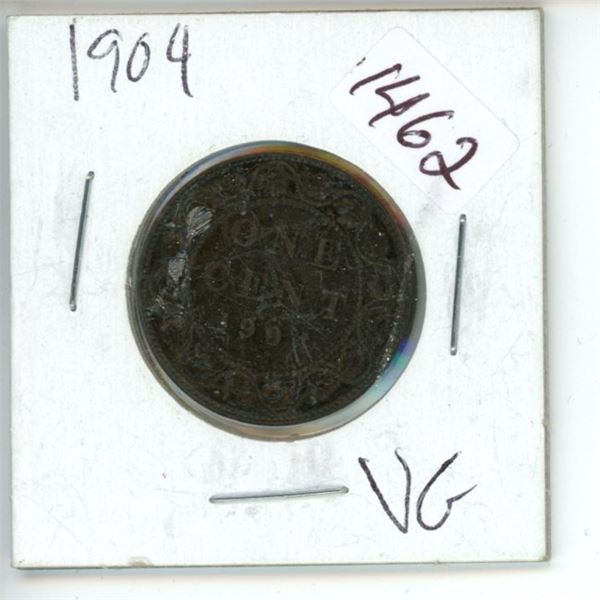1904 Canadian 1 Cent Coin